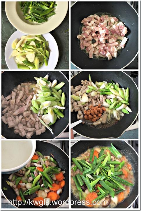 Auspicious Chinese Stewed Leek Dish (香蒜报喜)