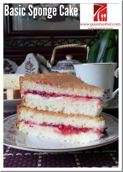 Basic Sponge Cake (基本海绵蛋糕)
