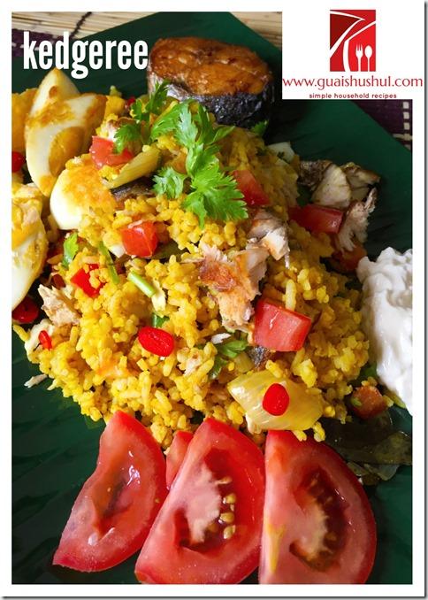 An Indian Style British Traditional Breakfast Item –Kedgeree or Kitchari