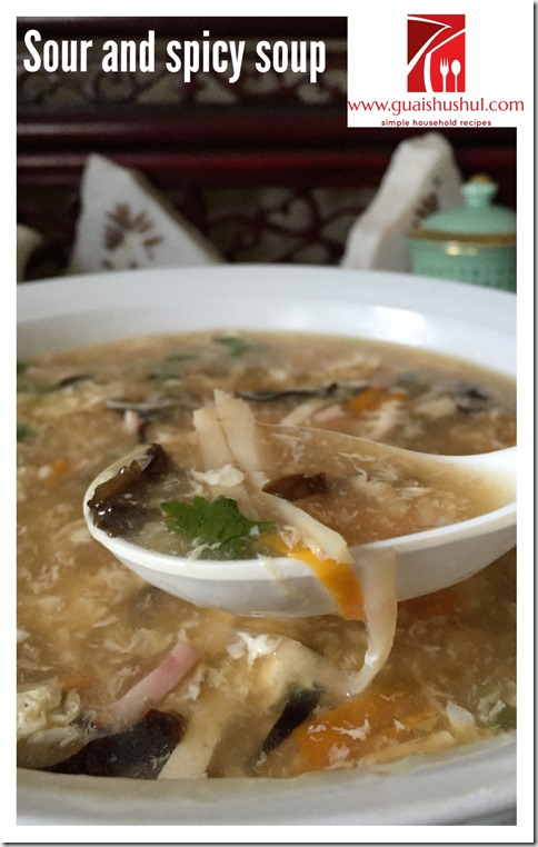 Chinese Classic Hot And Sour Soup (酸辣汤)