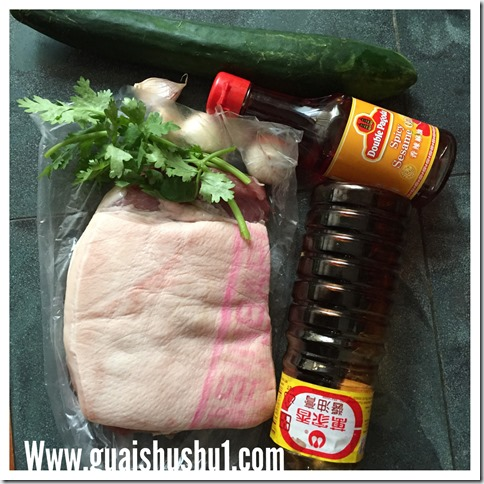 Sichuan Garlic Paste Pork Belly  (蒜泥白肉)