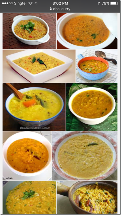 Classic Indian Vegetarian Curry–Lentil Curry aka Curry Dhal (印度扁豆咖喱 பருப்பு குழம்பு)