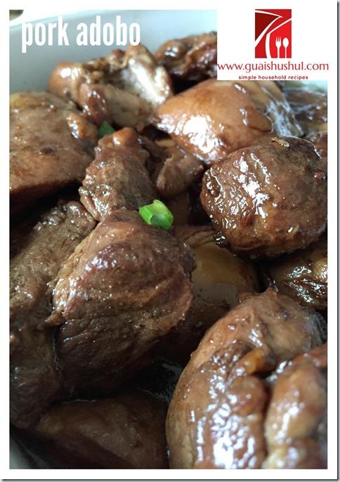 Philippine's Unofficial National Dish–Pork And Chicken Adobo (菲律宾 猪肉和鸡肉阿斗波)