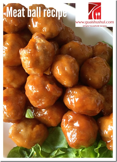 Sweet And Sour Meat Balls (糖醋炸丸子)