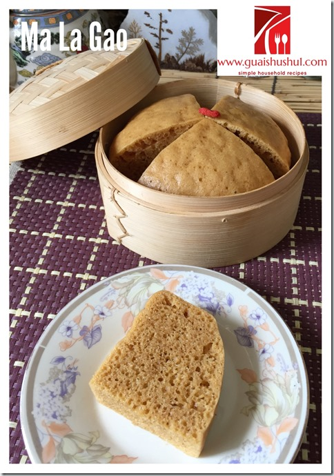 Yeast Raised Gula Melaka Ma La Gao aka Chinese Steamed Cake (酵母椰糖马拉糕)