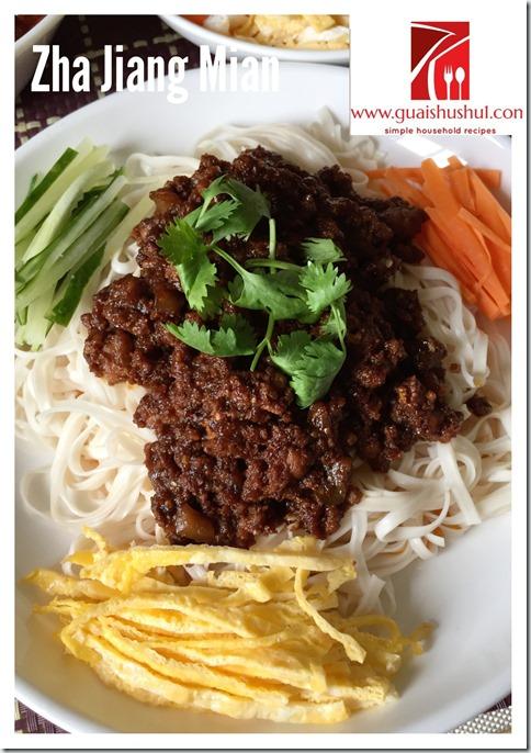 Chinese Minced Meat Noodles aka Zhajiangmian (炸酱面)