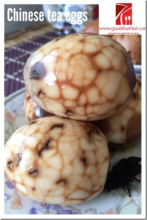 Classic Chinese Snack Recipes: 5 Spice Chinese Tea Eggs (五香茶叶蛋)
