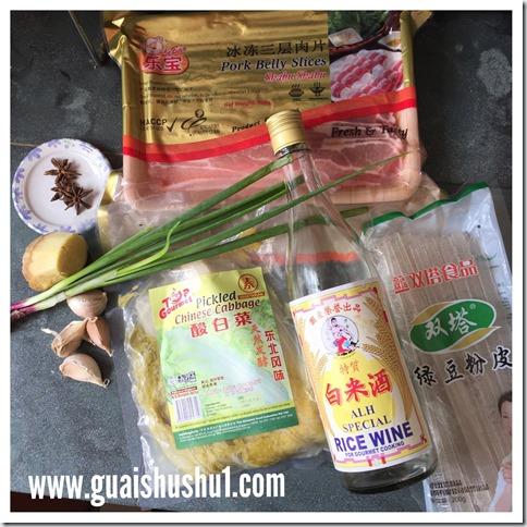 Chinese Famous Recipe : Sour Cabbage Pork Belly (酸菜汆白肉, 酸菜白肉炖粉条)