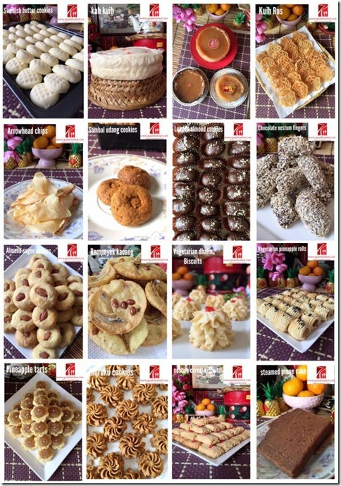 SPECIAL COMPILATION OF 30 CHINESE NEW YEAR RECIPES–PART 2– Auspicious Chinese Cakes and Sweets ( 30 春节食谱汇编 2– 应年节庆糕点)
