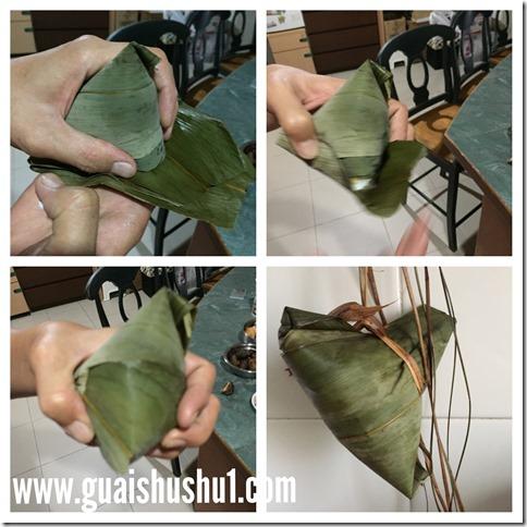 Cantonese Style Mung Bean Rice Dumplings (粤式绿豆咸肉粽)