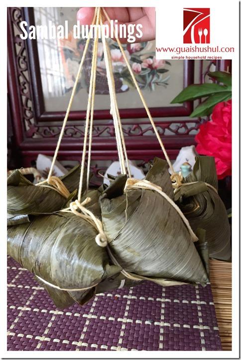Sambal Haebeehiam Glutinous Rice Dumpling aka Chilli Dried Shrimp Floss Dumpling (辣虾米鬆粽子)