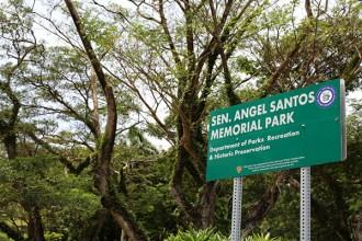 SEN. ANGEL SANTOS MEMORIAL PARK SIGN