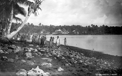 Leoni, Tutuila, Samoa published by Kerry and Company, Sydney, Australia, 1884-1917. part of the Powerhouse Museum Collection courtesy of Wikimedia Commons.