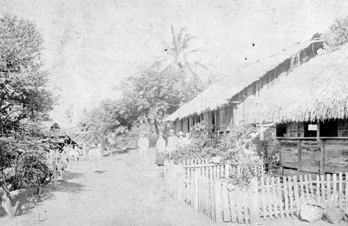 """Pitcairn Island houses. Homes of Alfred and Rosa Young."" Photo from the Pitcairn collection, Seventh-day Adventists."