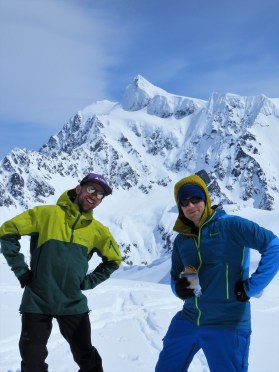 Liam and ET in front of Shuksan (east)