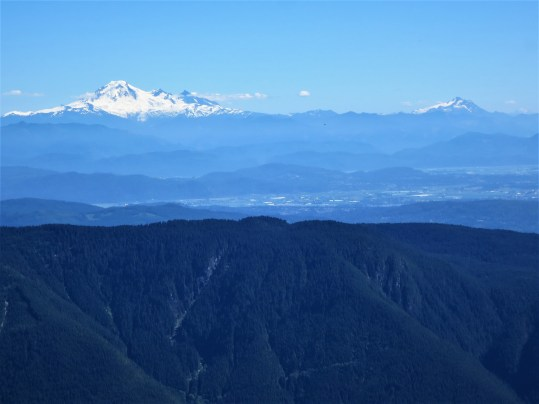 Mt. Baker on the left and the twin sisters range on the right