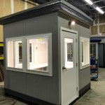 Guard Booth, Guard Shack, Guard House, Security Booth Exterior Aluminum Panels-Tempered Sliding/Fixed windows