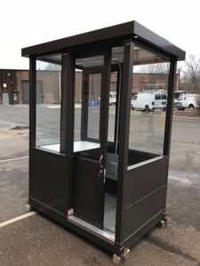 4 x 6 Guard Booth-Aluminum-Sliding Door
