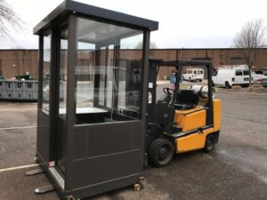 4 x 6 Aluminum Guard Booth with Sliding Door