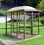 5 x 10 Bus Stop Shelter Dome 1 Opening