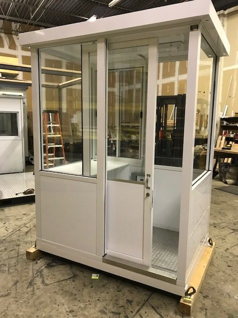 4 x 6 Guard Booth Sliding Door -white-Model#46GBALSD