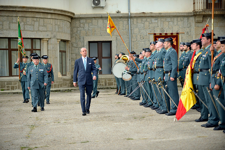 El Director General de la Guardia Civil visita a los alumnos de la Academia de Oficiales de la Guardia Civil en El Escorial