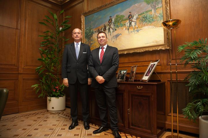 El Director General de la Guardia Civil recibe al Director del Instituto Nacional de Ciberseguridad