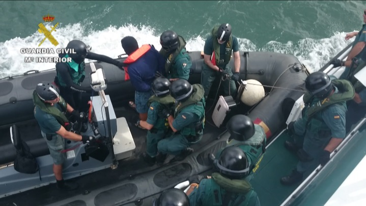 La Guardia Civil se entrena para el dispositivo de seguridad del Mundial de Vela que se celebrará en Santander