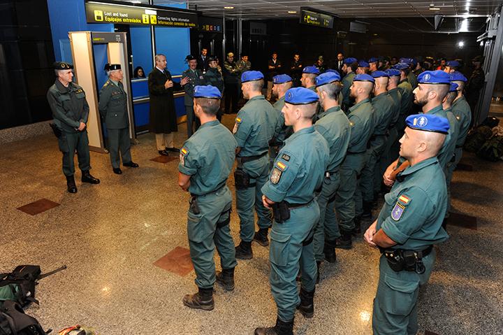 La Guardia Civil releva al contingente desplegado en la República Centroafricana que contribuye al restablecimiento de la seguridad en la zona