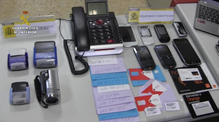 La Guardia Civil desarticula una red que estafaba a usuarios de telefonía utilizando líneas de tarificación adicional