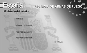 Tarjeta de licencia de armas
