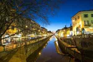 Guardia medica privata Milano: naviglio di sera