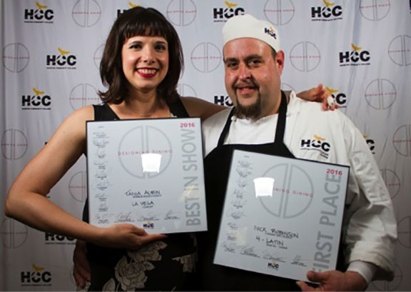 HCC Designing Dining 2016 First Place Winners Tania Albin, Interior Design  Student And Nick Robinson