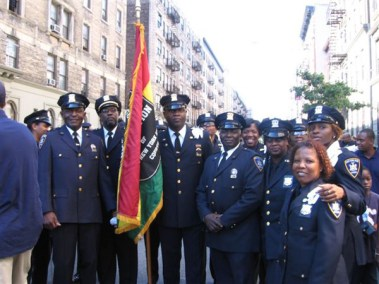 Members of the Guardians Association of the NYS Courts marching - 2005 African-American Day Parade.