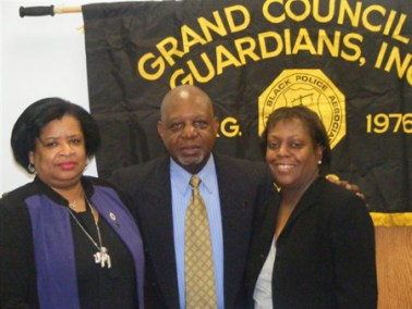 Former 1st Vice Pres. Deborah Kilpatrick-Jones, Pres. Eugene Jordan, and  honoree Deputy Chief Clerk V Renee L. Rudder