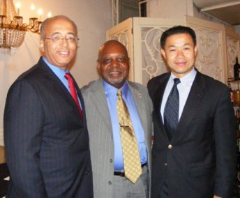 President Eugene Jordan with Controller Thompson and Councilman John Liu (D-Queens)