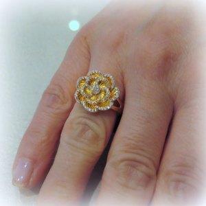 Anello donna rose placcato oro in argento 925