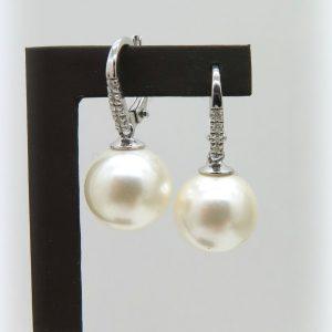Orecchini donna perla pendenti in argento 925