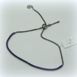 Bracciale tennis pietre blu in argento 925