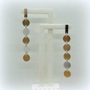 Orecchini pendenti argento placcato Fraboso argento
