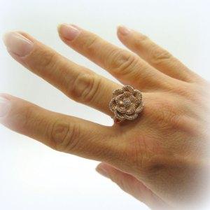 Anello rose Byblos in argento 925 e zirconi