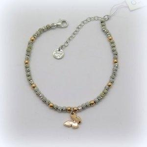 Bracciale farfalla in argento 925 placcato oro rosè