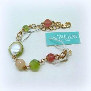 Bracciale perle e cristalli Sovrani bijoux