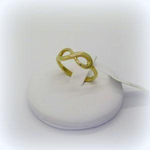 Anello infinito in oro giallo 18 ct