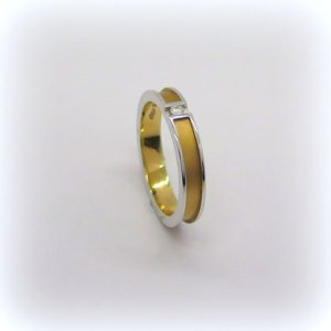 Fede fedina anteo in oro e diamante misura 13