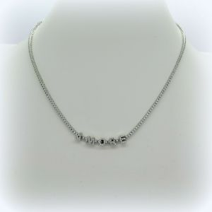 Collana tennis Amore in argento 925