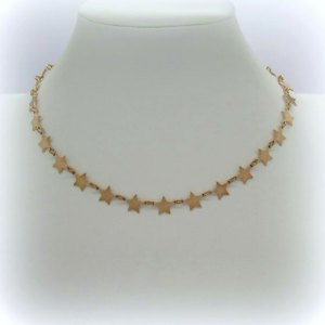 Collana stelle placcato oro rose' in argento 925
