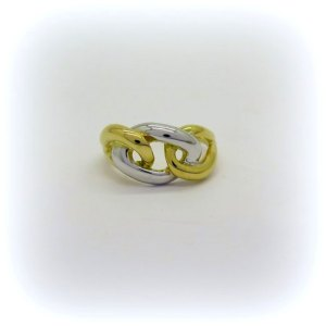 Anello groumette in oro 18 ct