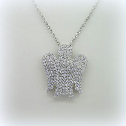 Collana angelo grande in argento 925 Giannotti