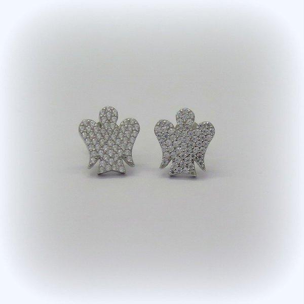 Orecchini angelo Giannotti in argento e zirconi